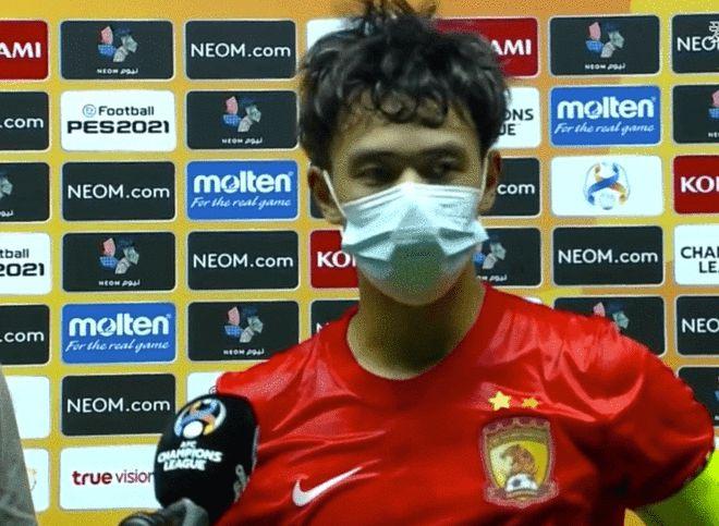 广州队长:丢了2个定位球很可惜 后面比赛学习为主