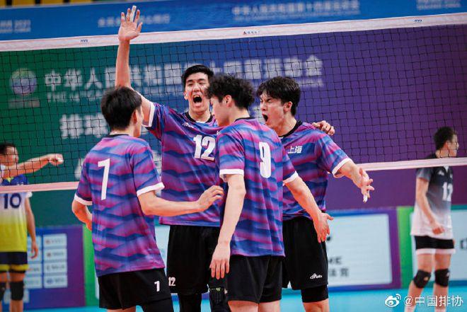 全运男排上海3-0山东第四次夺冠 浙江3-2江苏季军