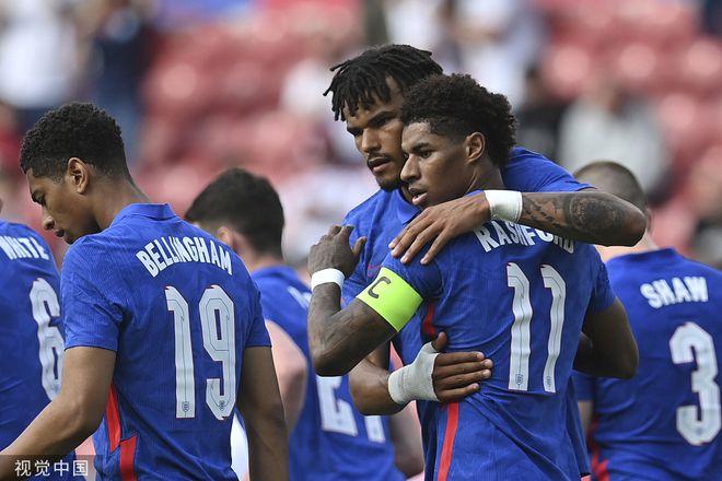热身-拉什福德当队长点射!英格兰3中框 1-0罗马尼亚