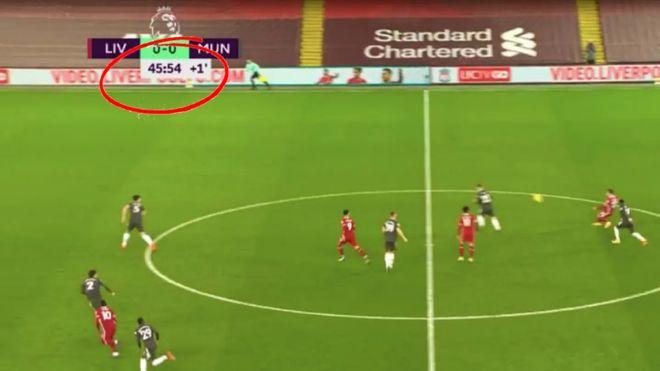 巨大争议!利物浦补时获单刀 裁判提前6秒结束半场