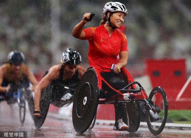 第60金!周召倩获得残奥田径女子1500米T54级冠军!