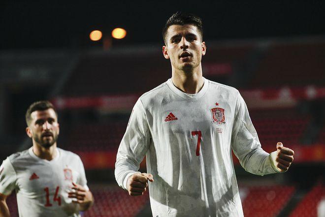 世预赛-莫拉塔破门马丁内斯送点 西班牙1-1希腊