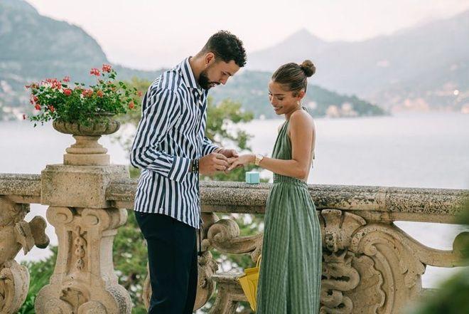 小里弗斯求婚成功深情表白未婚妻 超大钻戒超瞩目