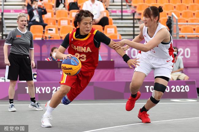 中国女子三人篮球逆转战胜日本 小组赛4胜1负