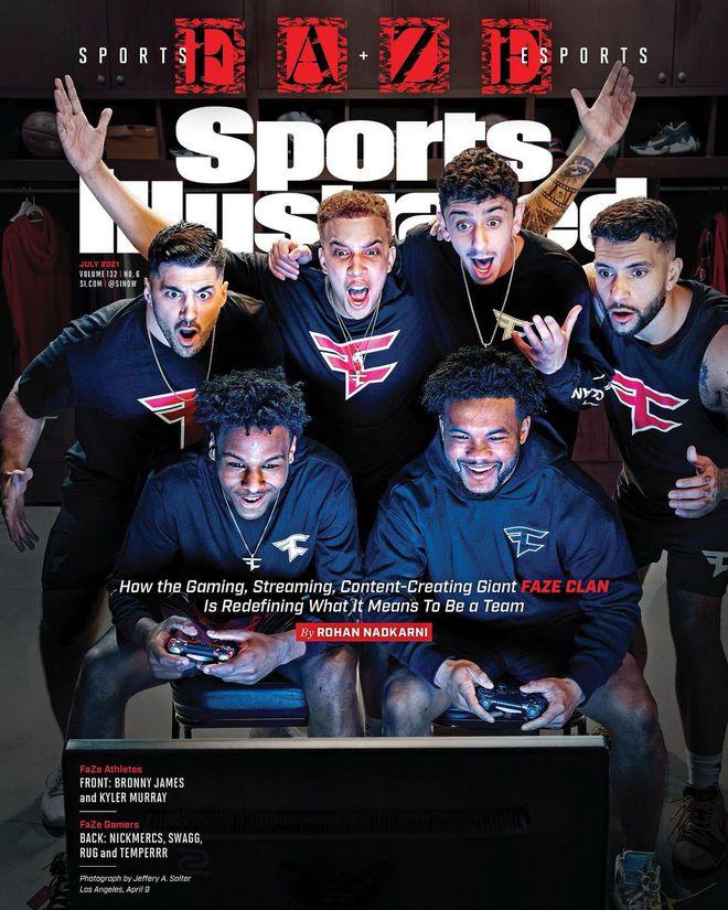 布朗尼登封面遭勒布朗吐槽:他爱篮球但更爱打游戏