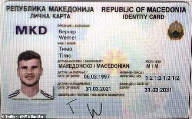 侮辱性极强!北马其顿给维尔纳制作身份证 号码亮了
