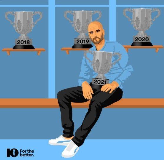 4无忌惮?瓜帅平均23场拿1冠 生涯总计30冠历史第3