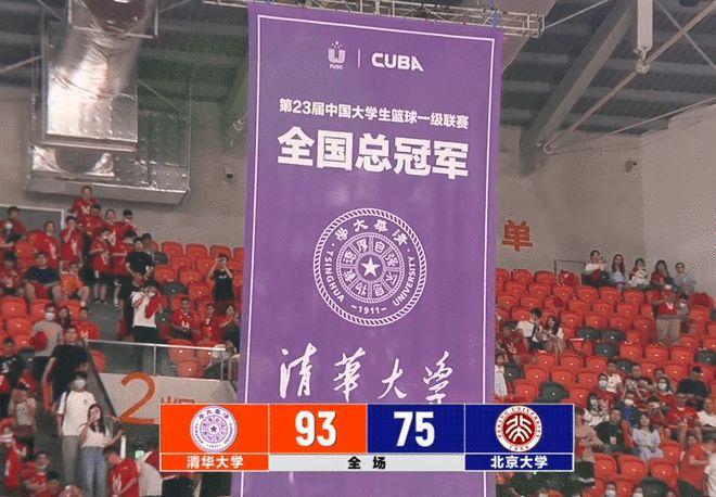CUBA-清华93-75北大获全国赛冠军 近六年三次夺冠