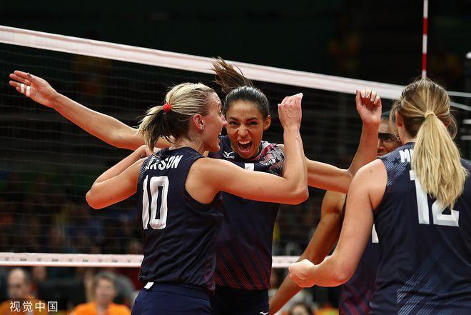 女排世联赛美国巴西争冠 即时排名中国跌至第三