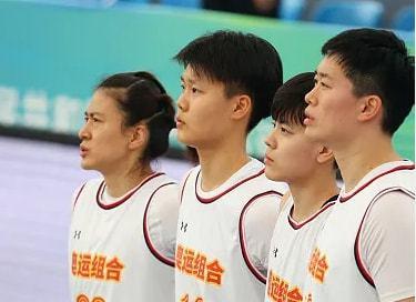 三人女篮-联合队21-12胜湖北 张芷婷7+5万济圆7分
